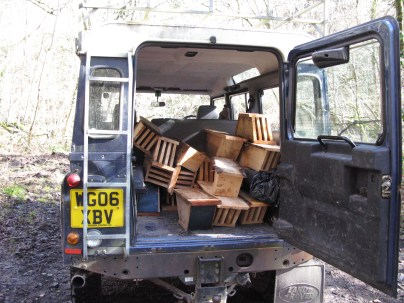 Loaded Land Rover