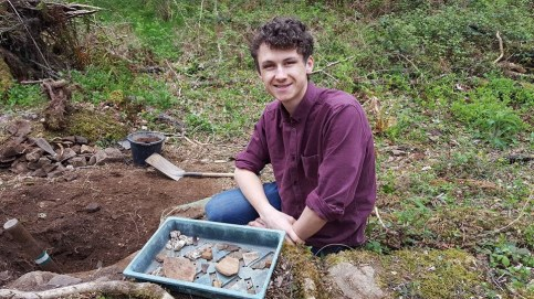 Jowan and a selection of finds