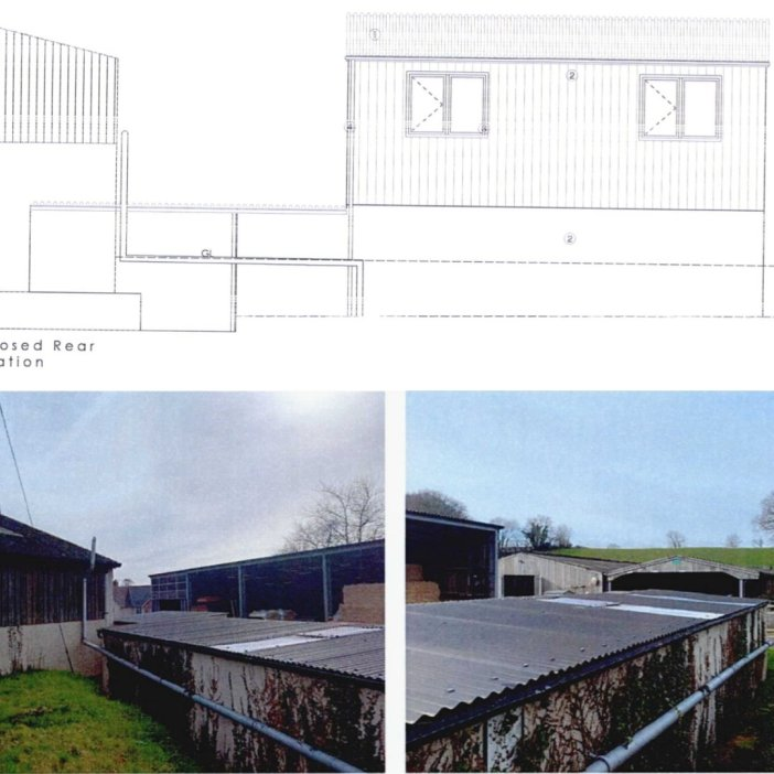 Plans by The Donkey Sanctuary for Woods Farm and pictures of the site