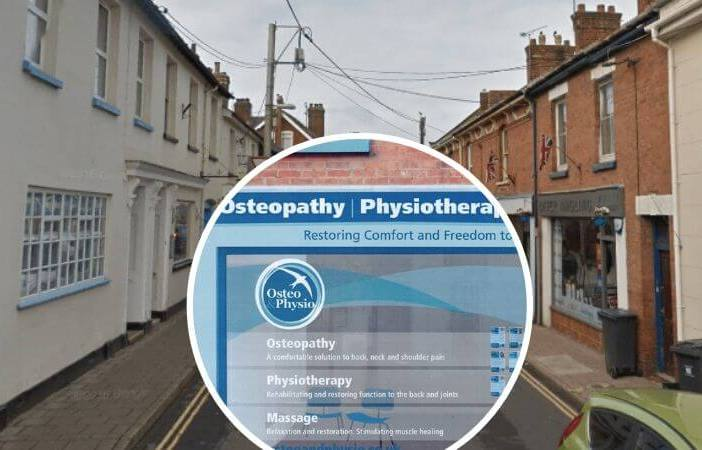 An osteopathy and physiotherapy clinic can now open in Jesu Street, Ottery St Mary. Images: Google Maps/Oliver Wakefield