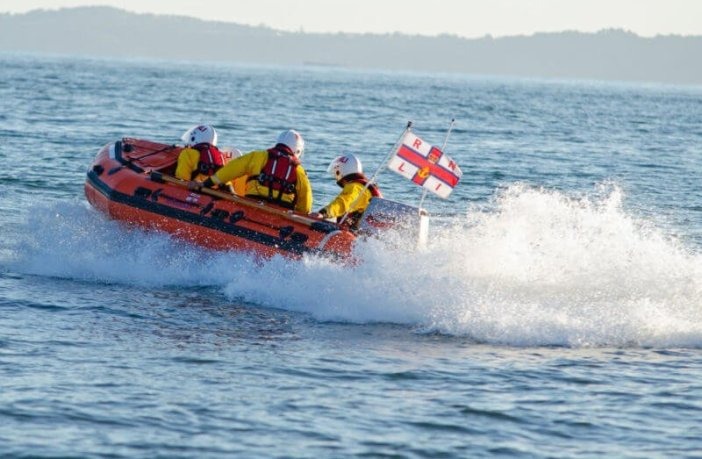 Exmouth RNLI inshore lifeboat Peggy D launches to the call in Budleigh Salterton. Picture: Exmouth RNLI Budleigh