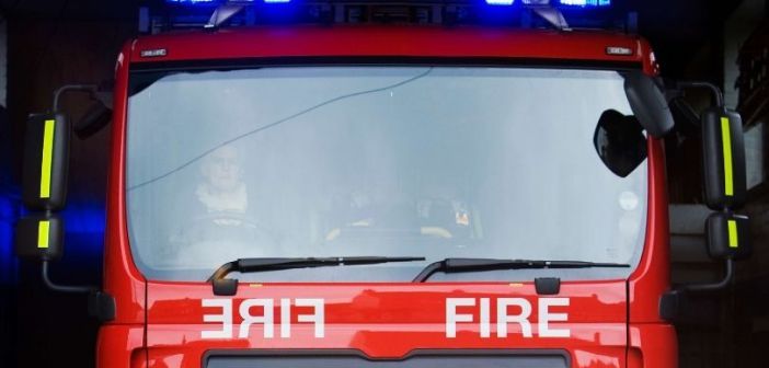 Firefighters give man first aid after chip pan accidentally catches fire in Seaton flat