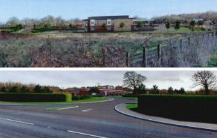CGI images for the proposed Daisymount service station and McDonald's scheme near Ottery St Mary. Images from the planning application.