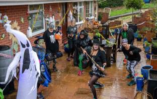 Sidmouth Running Club members ahead of their Halloween run in support of the Sid Valley Food Bank. Picture: Kyle Baker Photography
