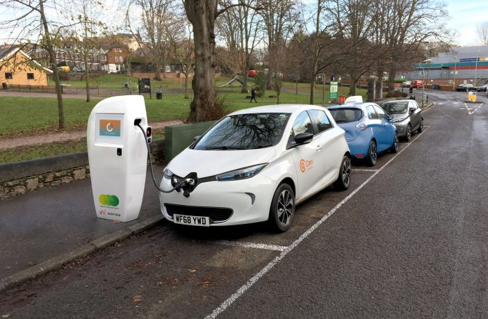 Exmouth Cranbrook Topsham A digital representation of what a charge point could look like in Exeter. Image: Devon County Council