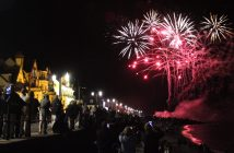 Fireworks in Sidmouth. Image: Adele Salter