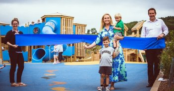 TV personality Josie Gibson cuts ribbon on £250,000 new play area at Ladram Bay Holiday Park