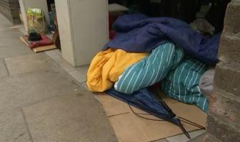 East Devon Exeter Rough sleeper / homeless. Credit: BBC Spotlight