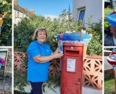 PHOTOS: Novelty knits for post boxes in Exmouth as yarn bombers join forces for Hospiscare