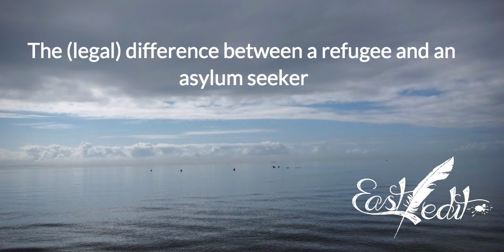 The difference between a refugee and an asylum seeker