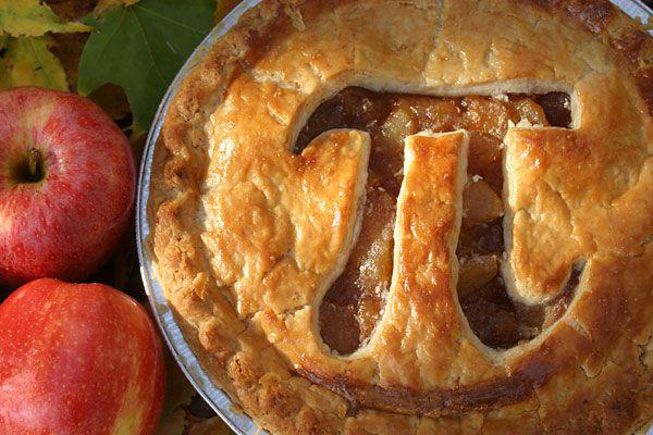 Pie with pi carved in it