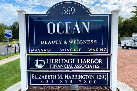 ocean spa outdoor sign