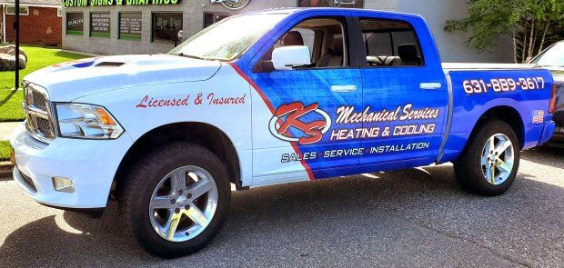 KS Mechanical Services pick-up truck vehicle wrap