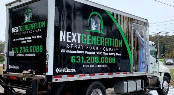 NextGeneration Spray Foam vehicle wrap