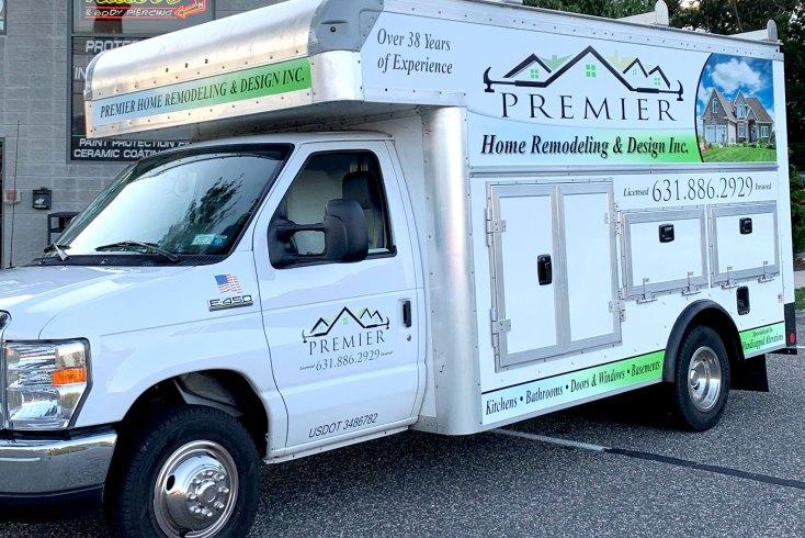 Premier Home Remodeling vehicle lettering