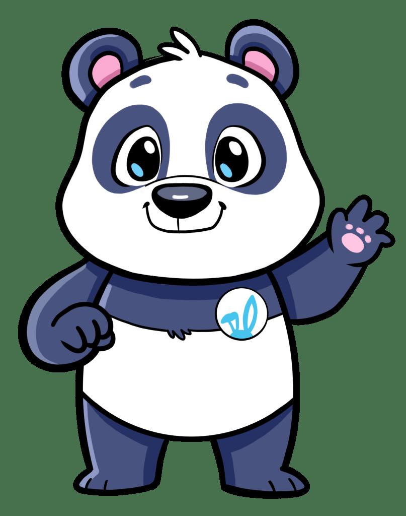 Panda Bear Easter Bunny Helper