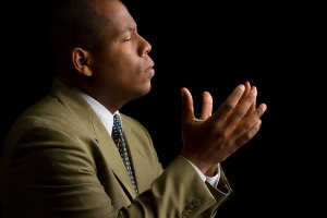 African-American Man Praying