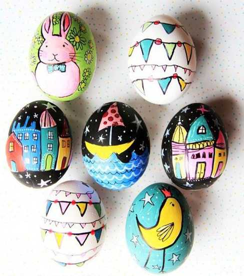 Images of Easter Bunny and Eggs