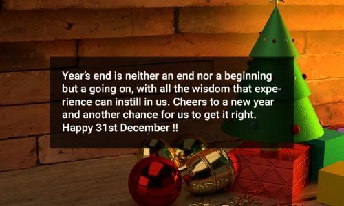 31st December Status