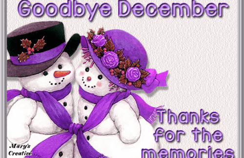 Goodbye December Wishing Images