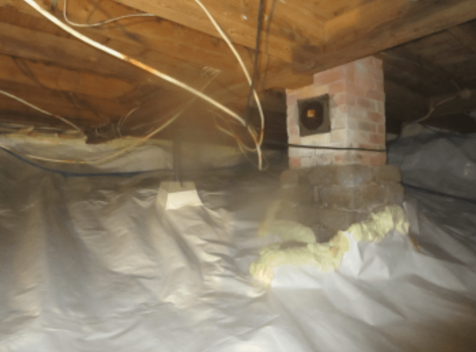 Crawl space repair in Gouldsboro, Maine