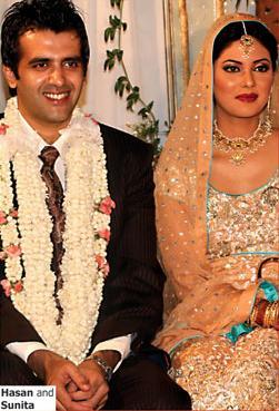 sunita-marshall-with-husband-hussan-wedding-pic