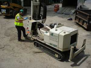 geoprobe drilling soil testing soil boring test