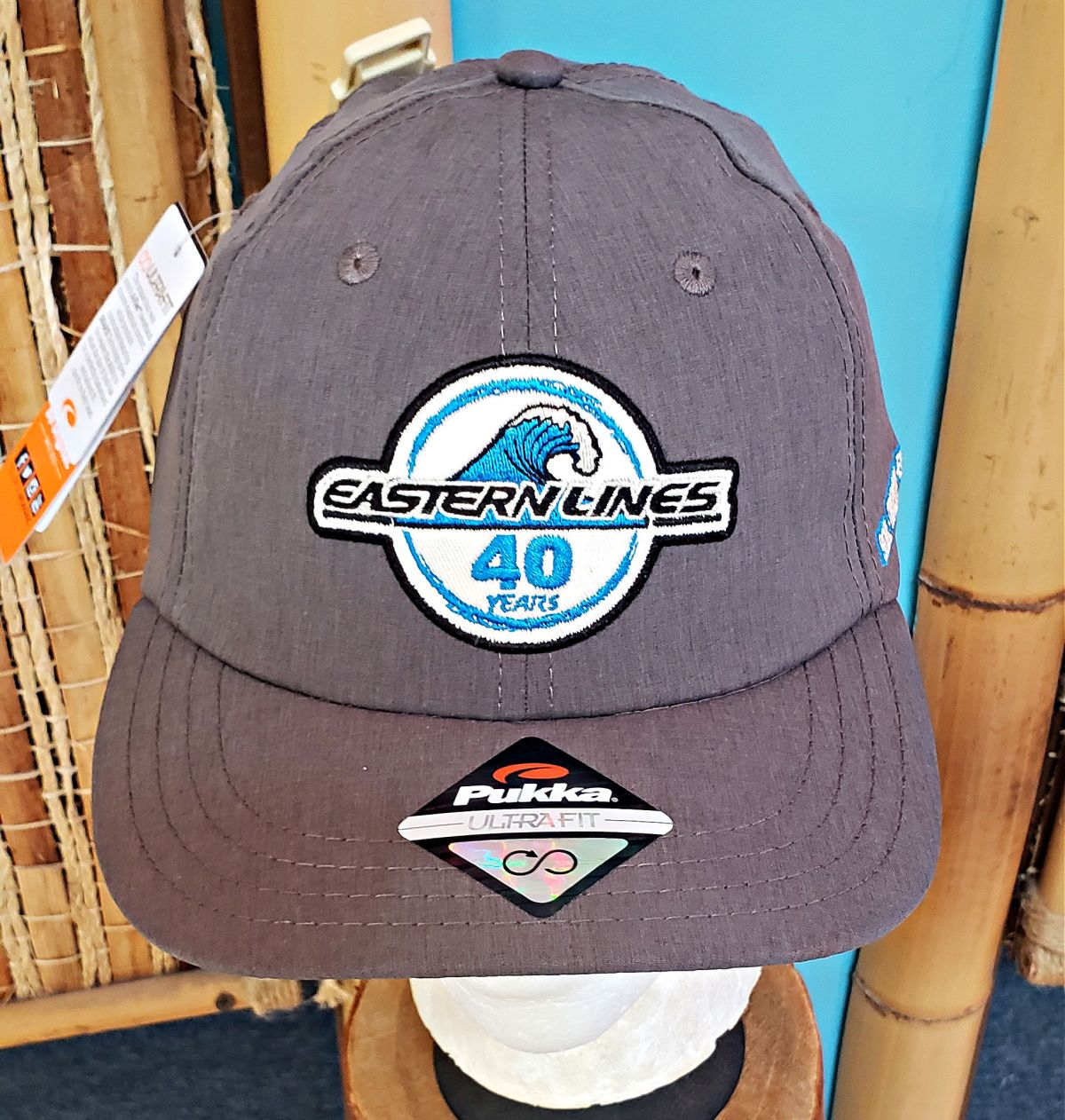 2021 40th Hat Charcoal-250-r