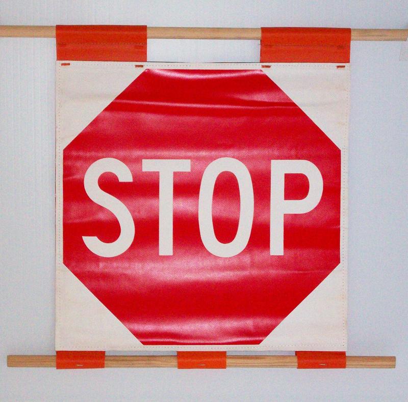 stop vinyl sign