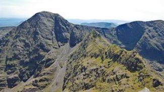 The challenging Beenkeragh Ridgeline leading to Carrauntoohil