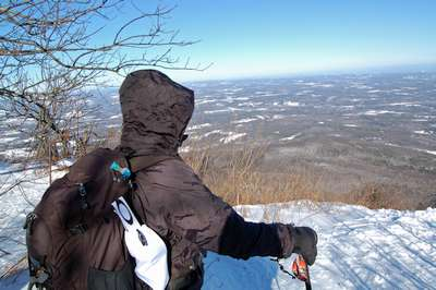 Expansive views off of the escarpment from Windham High Peak.