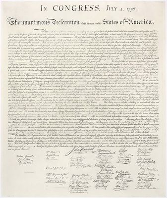 United States Declaration of Independence.  National Archives and Records Administration