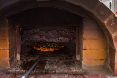 Pizzas - hot out of the oven!