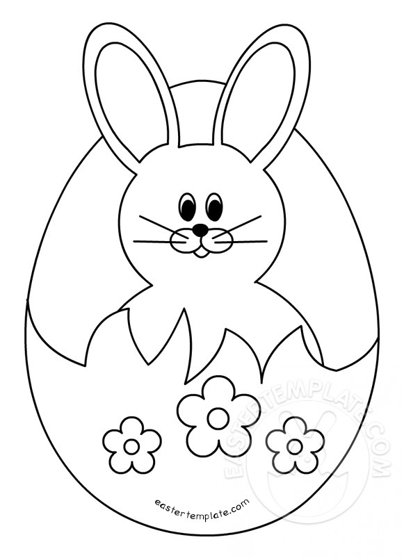 Easter Bunny Face Template Rabbit Outline