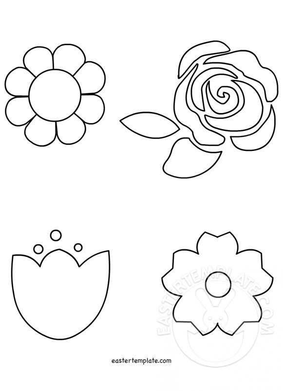 spring flower templates for kids