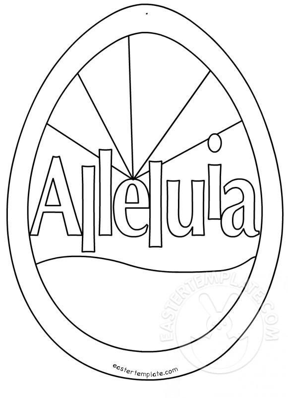 Easter Cross Template Printable