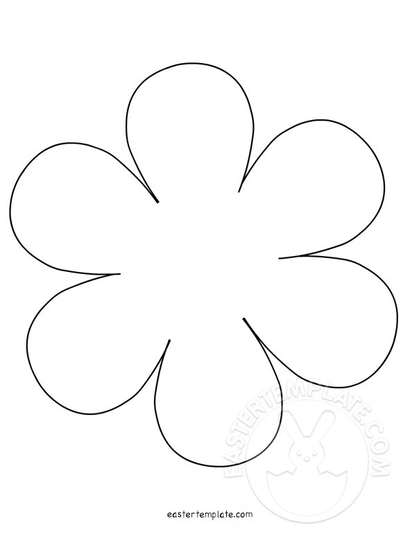 6peddle Flower Templates