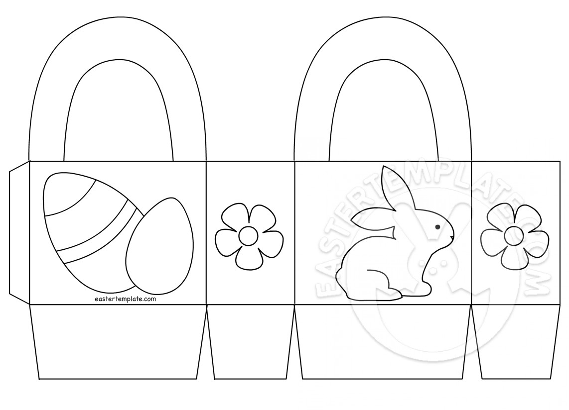 Easter Basket Printable Coloring Page Easter Template