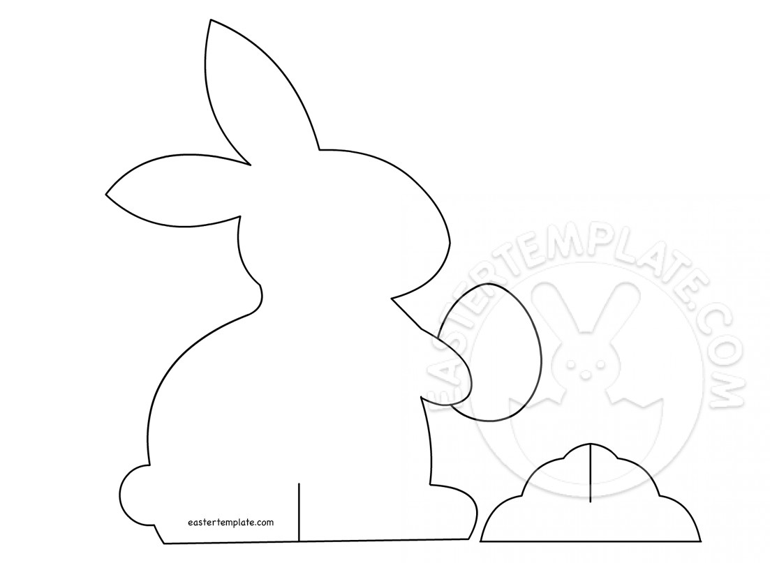 3d Paper Bunny Decoration Printable