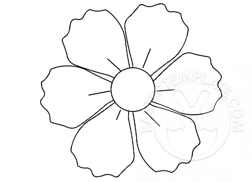 Six Petal Flower Template