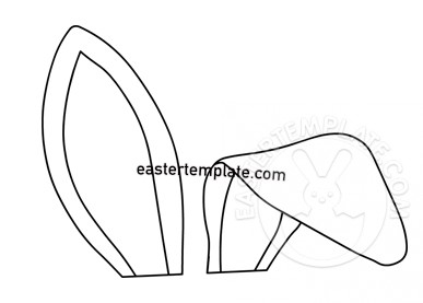 Bunny Ears Pattern Paper Craft Easter Template