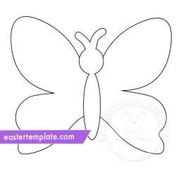 Butterfly Outline coloring page Easter Template