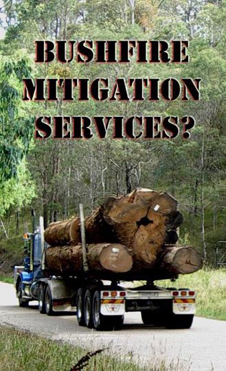 logging as bushfire mitigation