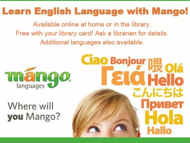 Learn English with Mango Languages click to enter