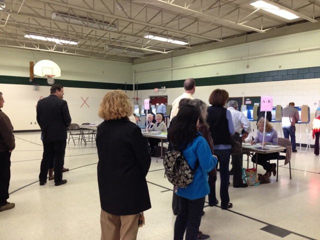Voting Brisk At Local Polling Places, With Lots of Kids & Snacks