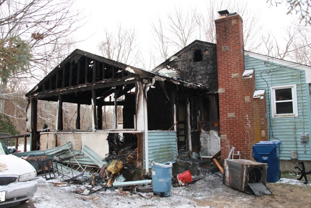 Middle Rd. House Heavily Damaged In Fire Saturday Night