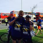 Julie Barker and David Cracknell - All smiles after the Great North Run