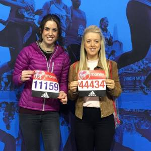 Katie Seddon and Jennifer Deyes - London Marathon Expo 2016