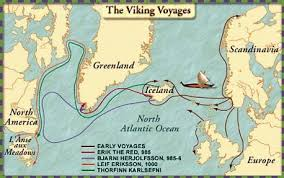 Map of Leif Erikson's voyage