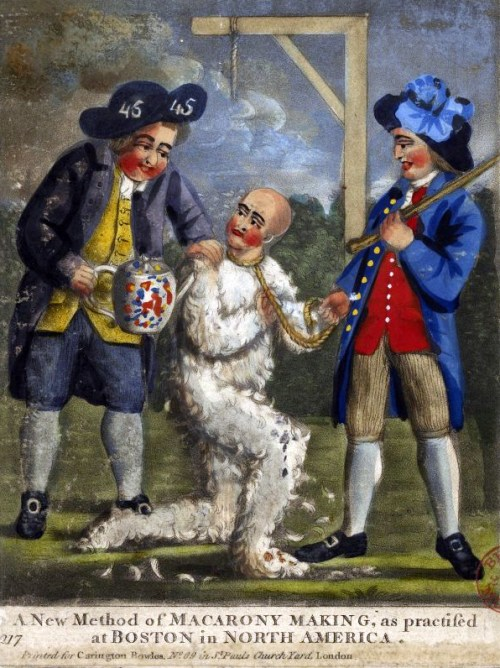 Tar and Feathering in American Revolution